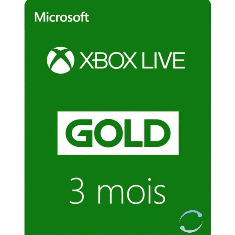 03 Mois Abonnement - Xbox Live Gold - Xbox Live - gamezone