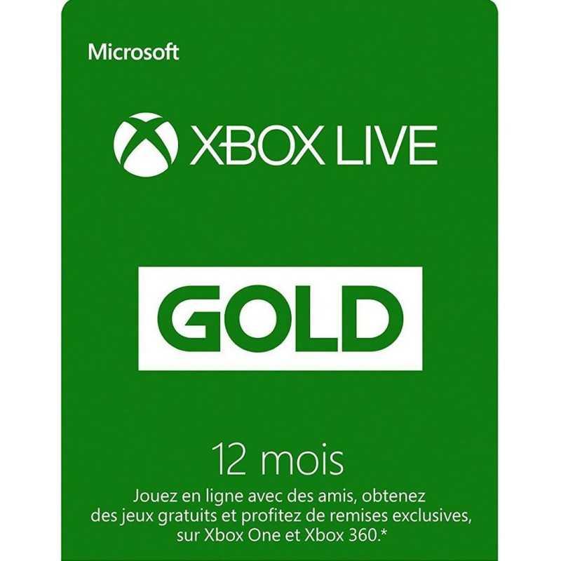 12 Mois Abonnement - Xbox Live Gold - Xbox Live - gamezone