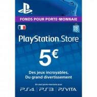 Carte PSN 5 EUR Playstation Store PS5/PS4/PS3/PS Vita Compte français en Tunisie
